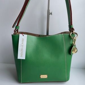 Frances Valentine Small June Green Leather Tote